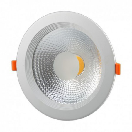 18W Lampa Spot LED COB rotunda, sticla mata, alb, lumina calda/rece