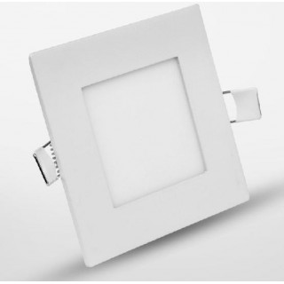 Spot LED 105x105mm 4W incastrabil patrat lumina calda- sursa inclusa