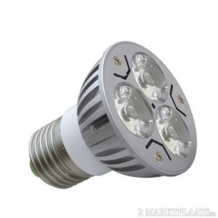 Bec Spot LED E27 3*1W 220V lumina rece/calda
