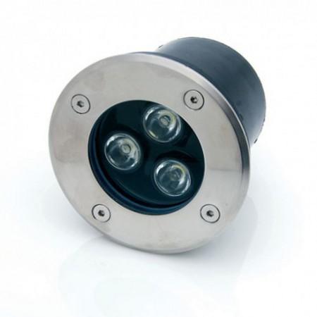 3W/220V Spot LED incastrabil in paviment rotund lumina calda - IP65