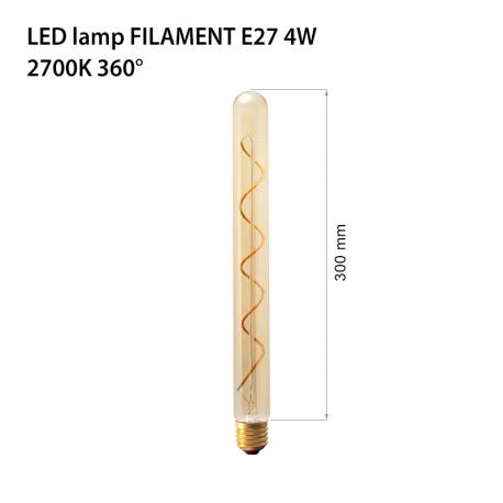 Bec decorativ cu filament Led lumina calda 2700k