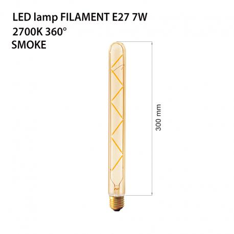 Bec decorativ cu filament Led 7w e27 lumina calda