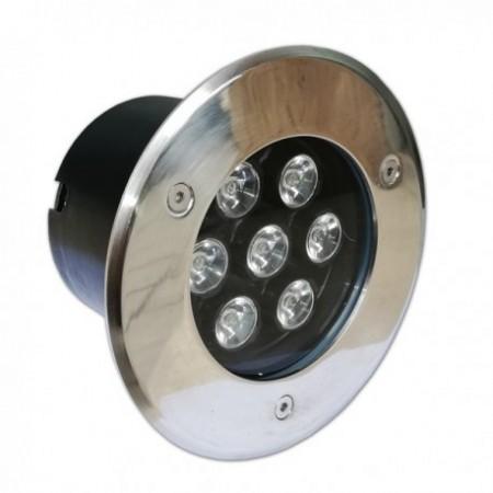 5W/220V Spot LED incastrabil in paviment rotund lumina calda - IP65