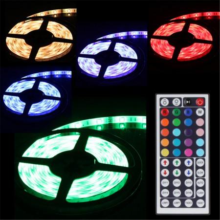 Banda LED 5050 60 SMD/m 14.4w lumina multicolora RGB+Alb Cald permeabila - PROFESSIONAL
