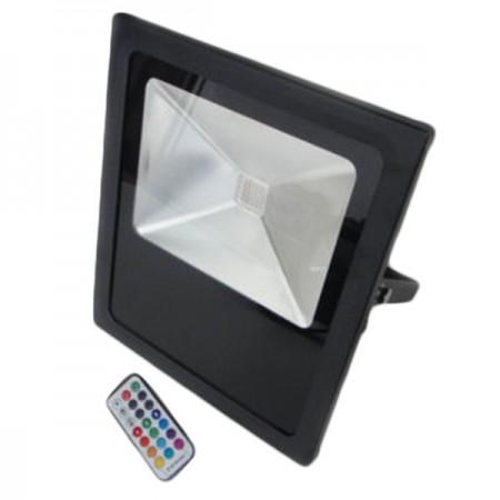 50W Proiector LED, lumina multicolora RGB - IP65 cu telecomanda - Ledel