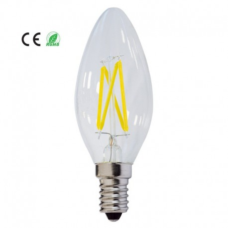 5*Bec led e14 cu filament 4w