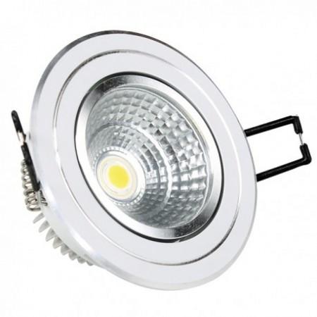 5W Lampa Spot LED COB rotunda, ajustabila, lumina alba