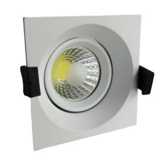 8W Lampa Spot LED COB patrata, ajustabila, lumina rece/neutra