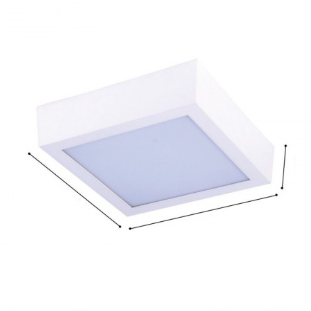 Plafoniera led High Line patrata 20W/2400lm lumina neutra IP44 - Ledel