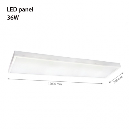 Plafoniera led High line 1200x300mm 36w lumina neutra