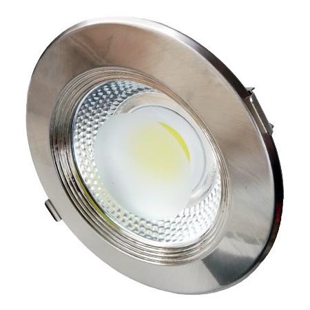 20W Lampa Spot LED COB rotunda, lumina calda/rece - INOX