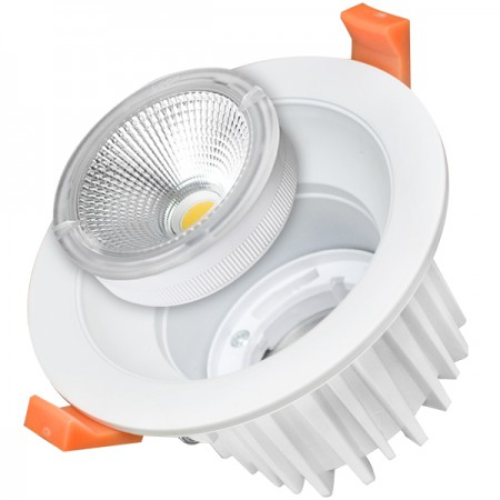 35W Lampa Spot LED COB rotunda, intersanjabil, lumina neutra/rece