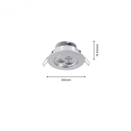Spot Led 3W 30° IP21 lumina calda