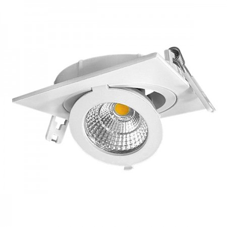 12W Lampa Spot LED COB patrata, ajustabila, lumina neutra