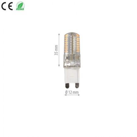 Bec Led G9 Gama DALL 3w SMD Silicon lumina neutra/calda - Ledel