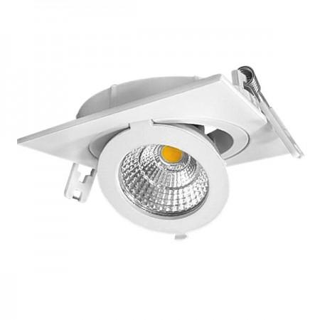 12W Lampa Spot LED COB patrata, ajustabila, lumina calda