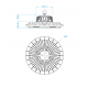 Lampa industriala MEANWELL driver 200W/24000lm 5 ani garantie