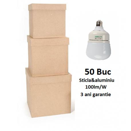 50XBec LED Premium E27 10W 700lm 3 Ani Garantie - Lumina Rece