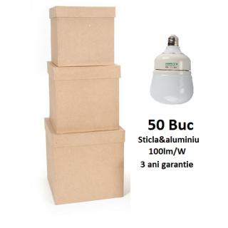 50XBec LED Premium E27 10W 1000lm 3 Ani Garantie - Lumina Rece