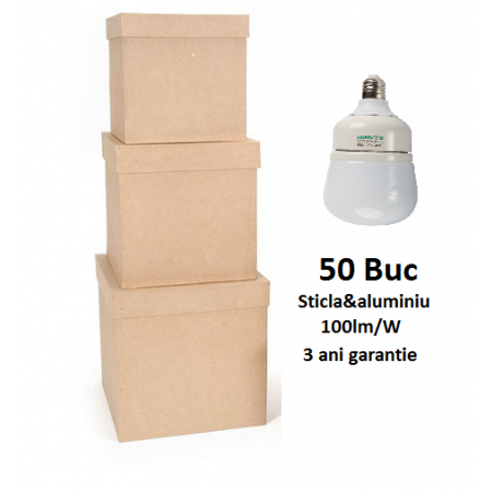 50XBec LED Premium E27 15W 700lm 3 Ani Garantie - Lumina Rece