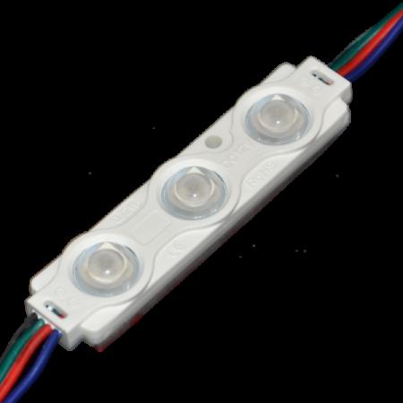 Modul LED RGB IP65 0.72W 3SMD cu lentila - Ledel