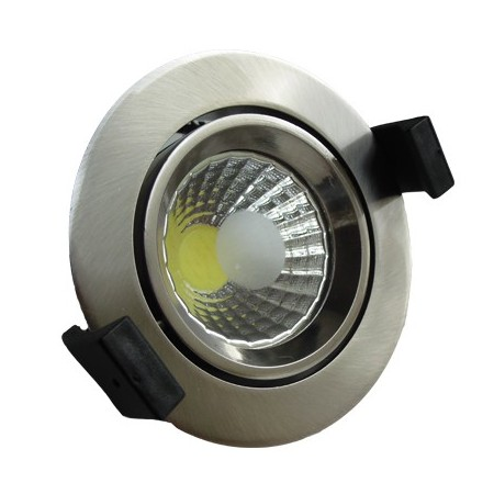 15W Lampa Spot LED COB rotunda, lumina calda/rece/neutra - INOX