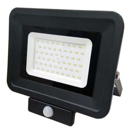 50W Proiector led cu senzor corp negru- IP65