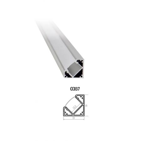 Profil Aluminiu Unghiular 19*19mm 2M Reflector PVC - Ledel