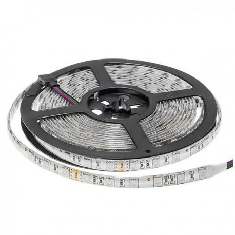 Banda LED 24V 5050 60 SMD/m lumina RGB-multicolora impermeabila PROFESSIONAL
