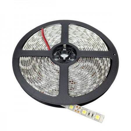 Banda LED 24V 5050 60 SMD/m lumina alba impermeabila PROFESSIONAL