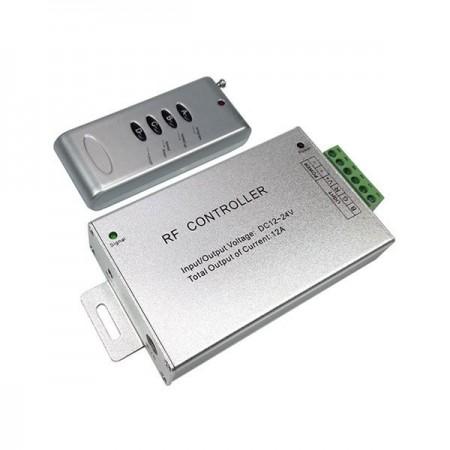 Controler RADIO cu telecomanda Banda LED RGB - 4 butoane - 144W 12A