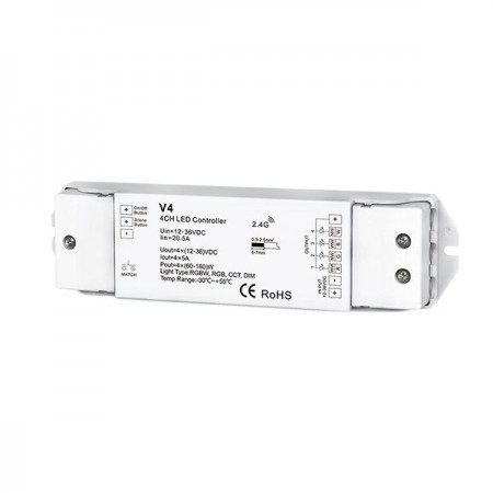Receptor controler Banda led 4 zone RF