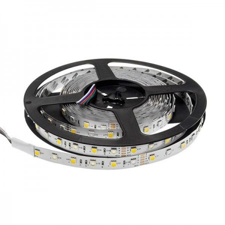 Banda LED 12V 5050 60SMD/M RGB+ALB Baza Profesionala - Ledel
