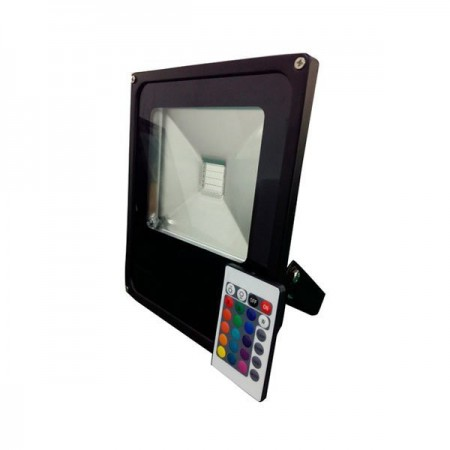 10W Proiector LED, lumina multicolora RGB cu telecomanda- IP65