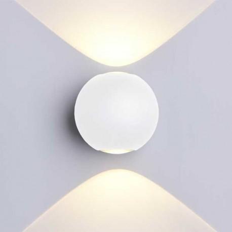 6W Aplica Design Alba Rotunda De Perete