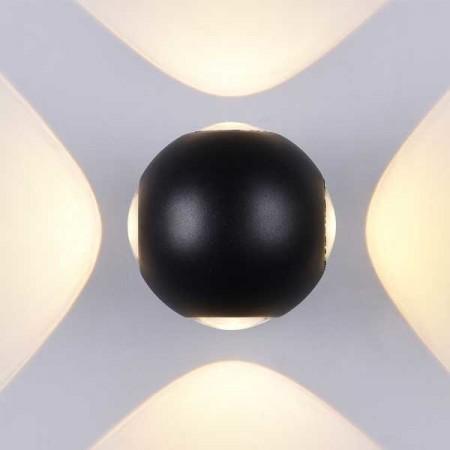 4W Aplica Design Neagra Rotunda De Perete - Ledel