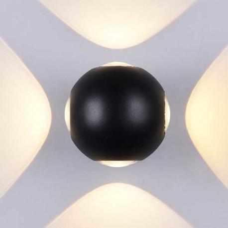 4W Aplica Design Neagra Rotunda De Perete