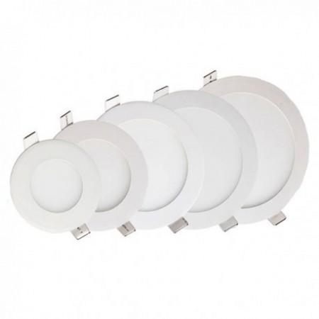 18W Panou LED ф224x13 mm incastrabil rotund lumina naturala - cu sursa