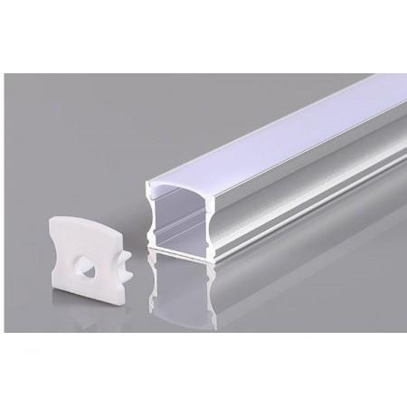 Profil Aluminiu Gri 12mm 2M - Ledel