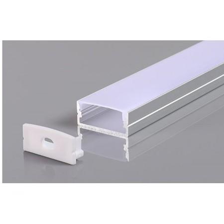 Profil Aluminiu Gri 10mm 2M - Ledel