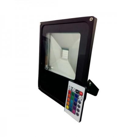 30W Proiector LED, lumina multicolora RGB cu telecomanda- IP65 - Ledel