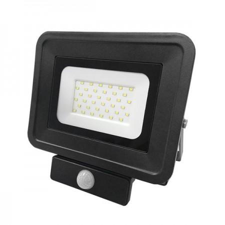 30W Proiector LED SMD Exterior Negru cu Senzor - Ledel