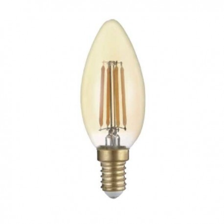 Bec Led Candela E14 Golden Glasss C35