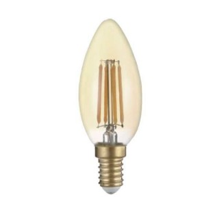 Bec Led E14 Golden Glass C35