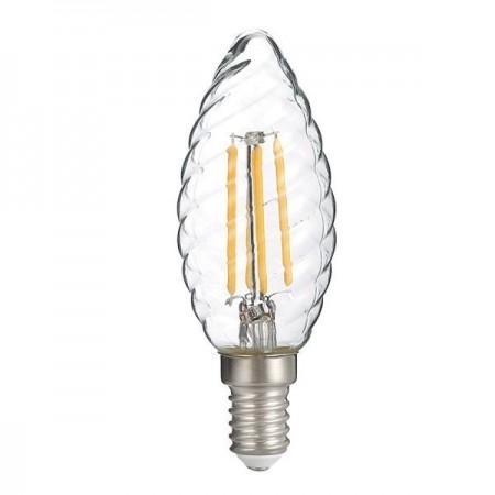 Bec Led E14 Filament Candela c35 4W Lumina Calda - Ledel
