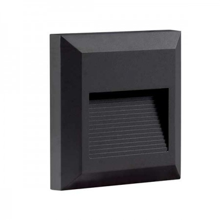 Aplica Led Patrata Neagra 2W pentru perete - Ledel