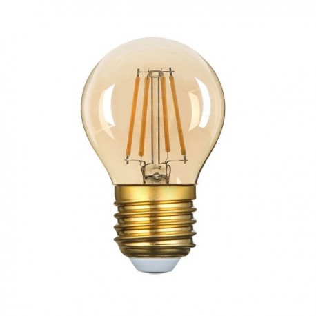 Bec Led E27 G45 Golden Glass Dimmable