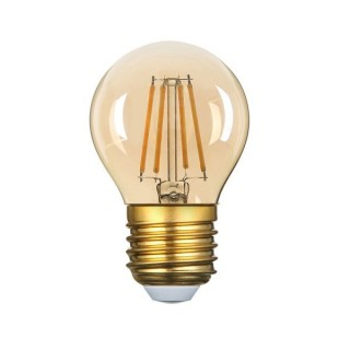 Bec Led E27 G45 4W Golden Glass Dimmable