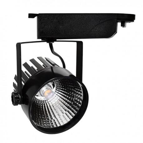 Proiector LED de interior 25W COB corp negru lumina rece/neutra/calda