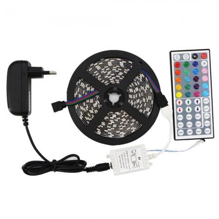 Kit Banda LED Multicolora 5m cu Controler Exterior - Ledel